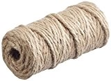Rayher Hobby 6 plis jute filetage en plastique naturel 6 mm bobine de 35 m