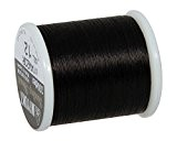 Rayher Hobby  Fil pour perle rocaille/miuyki Noir 50 m