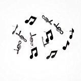 Rayher Hobby Loisirs Créatifs Attaches parisiennes note de musique noire 3 sortes Soldes