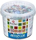 Rayher Hobby Pierres mosaïque 1 cm couleurs assorties Seau environ 1300 pces/1 kg
