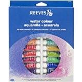 Reeves 10ml Ensemble de peinture aquarelle extra-fine 24 Tubes