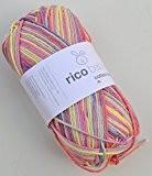 Rico babywolle coton imprimé baby soft dk couleur 10 laine à tricoter &crochet