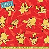 Robert Kaufman Lightning Pokemon Pikachu Tissu à coudre rouge (Prix par mètre)