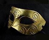 Roman Gladiator style Hommes Masque Carnaval Masquerade de boule de partie (Gold)