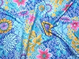 Rowan Kaffe Fassett Tissu en popeline Couleur: Bleu - Par pan de 50 x 55cm