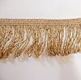 Ruban à franges au mètre pour la mode/loisirs créatifs - Argenté - Largeur : 5 cm