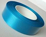 Ruban de satin 25m x 25mm Bleu glace–turquoise – Ruban cadeau décoratif