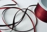 Ruban de Satinette 50m x 3mm Rouge de Vin - BORDEAUX Ruban Décoratif de Cadeau pour Nœuds