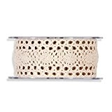 RUBAN DENTELLE NATUREL 40 MM X 5 M