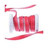 Ruban passepoil simili cuir au mètre - Rouge