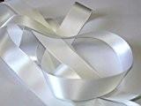 Ruban Satin Luxe Double Face 25 mm Coloris Blanc 2 Mètres