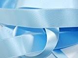 Ruban Satin Luxe Double Face 25 mm Coloris Bleu Ciel 2 Mètres