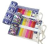 Sac à crayon de toile - Trousse de Crayons de Couleurs Sac Multi-usages - Porte-crayon Case(crayons non inclus) (Crayons ne ...