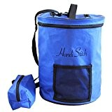 Sac de Rangement à laine Handi Stitch + Pochette Accessoires! Organisez votre Tricot/Crochet-Léger & Transport facile (Blue)