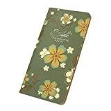 Saingace® Vintage Carnet ,couverture en cuir feuille cru feuilles mobiles journal cahier vierge cadeau journal (vert)