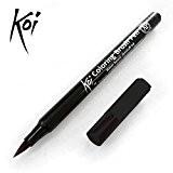 Sakura Koi-Pinceau Brosse Stylo à base d'eau à pointe fine-Simple-Noir # 49