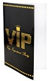 SANTEX 4235-11, Sachet de 10 Cartes d'invitation, menu ou faire-part VIP