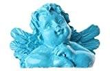 SANTEX 70038-8, Sachet de 4 marque-places Ange couleur turquoise
