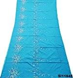 sari indien millésime femmes de tissu de soie floral mélange d'artisanat robe 5 km saree