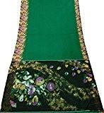 Sari Vintage Floral Imprimé Robe Femmes Upcycled bricolage Tissu Soie Soft Blend Texture Saree