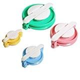 Seawhisper 1 Kit 4 Tailles Pompons Maker Fluff Boule Weaver Pour Fabriquer des Pompons de Tissage DIY Tricot Outil