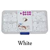 Seawhisper 50 pcs Bouton pression plastique taille T5 12mm - A54 Blanc