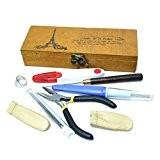 Seawhisper protecteurs boîte de rangement en bois feutrage à l'aiguille de l'outil de kit de couture pince dé de main ...