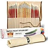 Set Artistique De 26 Pinceaux Artify Pour Peinture Acrylique, Peinture À L'huile, Aquarelle, Gouache | Mélange De Poils De Porc ...