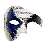 Signstek Masque Unisexe en Plastique Dure, Masque Art Manuel pour Halloween Soirée Anniversaire (GA022-BLS)