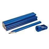 Silverline 250227 Ensemble de crayons de menuisier et taille-crayon 13 pcs