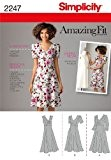 SIMPLICITE Amazing Fit Collection Patrons de robe femme - taille 38-46 FR