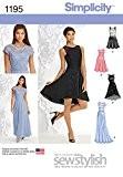 """Simplicity 1195Taille P512/14/16/18/50,8cm Patron de Couture Robe pour femme Miss et petites occasion spéciale """""""