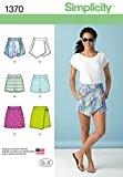 """Simplicity 1370Taille D5""""Patron de jupe pour femme Jupe-short pour femme et patron de couture"""