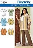 Simplicity 20W - 28W BB Patron de couture 2230 Patron de tunique ou haut pour femme