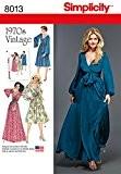 """Simplicity 8013r5Patron de Couture de Robes pour femme Vintage 1970"""", papier"""