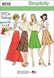 """Simplicity 8019u5""""Femme Vintage 1970'Jupes de Patron de Couture, papier"""