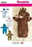 """Simplicity 8030Patron de Couture d'un """"buntings pour bébé en polaire et chapeaux, papier"""