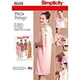 """Simplicity 8049u5""""Robe pour femme Vintage 1960de 3-armhole Patron de Couture, papier"""