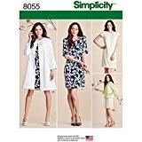 """Simplicity 8055u5""""Patron de Couture Robe et Manteau ou veste pour femme"""" motif, papier"""