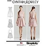 Simplicity Patron de Couture Robe pour femme par Cynthia Rowley, papier