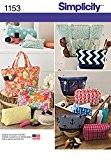 Simplicity Patterns 1153 Patrons de couture pour sacs de différentes tailles