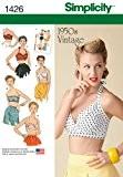 Simplicity Sewing Pattern 1426– Patron de couture poursoutien-gorge Vintage Années 50pour femme Tailles?: 42-50