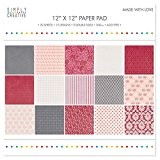 "Simply Creative Pad Papier 12""x12"" Made With Love"