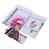 SODIAL(R) 48,5 * 46cm DIY Kit Kits de broderie au point de croix precise en Motif fleurs imprimees Oiseau Croix-Couture ...