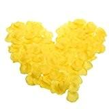 SODIAL(R) 600 pieces Petales de Rose Fleurs Faveurs pour la Decoration de Mariage jaune