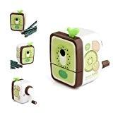 Sonline Taille-crayon a manivelle vert+cafe cadeau papeterie enfant ecole