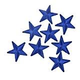 Souarts Lot de 10pcs Écusson Brodé Patch Thermocollant Etoile Bleu pr DIY Denim Fabric 4.1x4cm