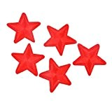 Souarts Lot de 10pcs Écusson Brodé Patch Thermocollant Etoile Rouge pr DIY Denim Fabric 4.1x4cm