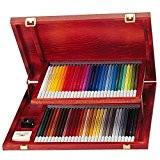 STABILO CarbOthello - Coffret bois de 60 crayons + taille-crayon + gomme spéciale + 1 estompe - Coloris assortis