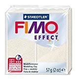 Staedtler - Fimo Effect - Pain Pâte à Modeler 57 g Effet Métallique Blanc Nacré